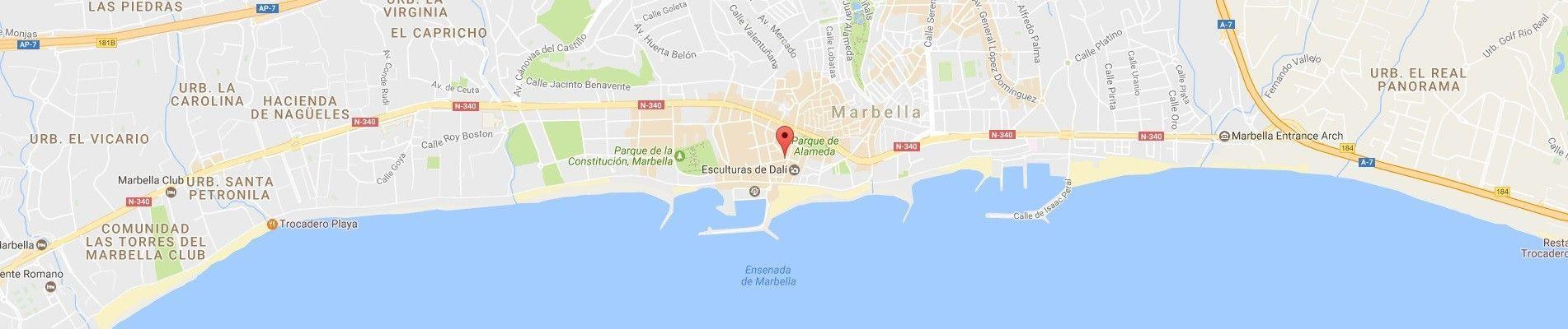 Localización Hotel Lima Marbella
