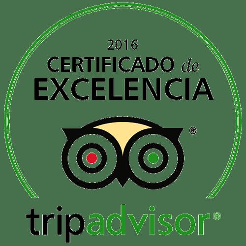 Certificado Tripadvisor Excelencia