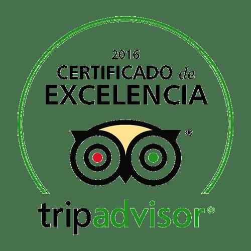 tripadvisor certificado excelencia 2016