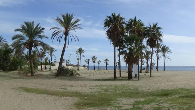 playa del cable en Marbella