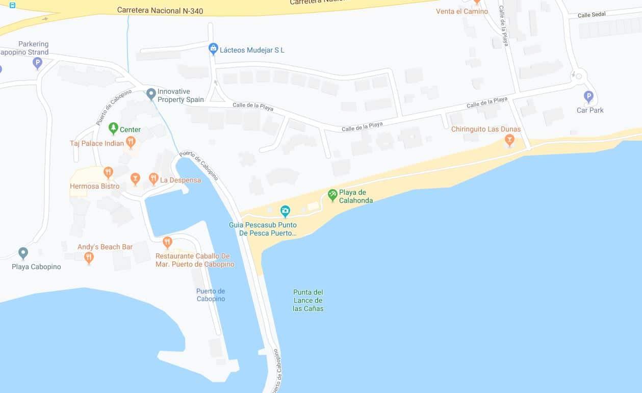 Localización Playa Calahonda