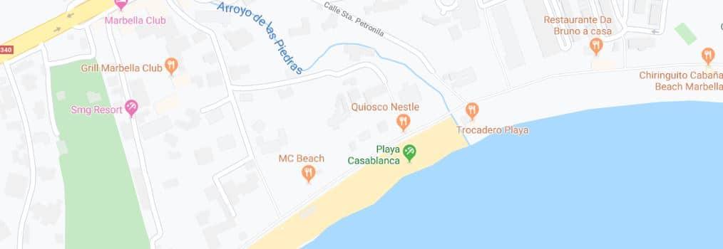 Localización Playa Casablanca