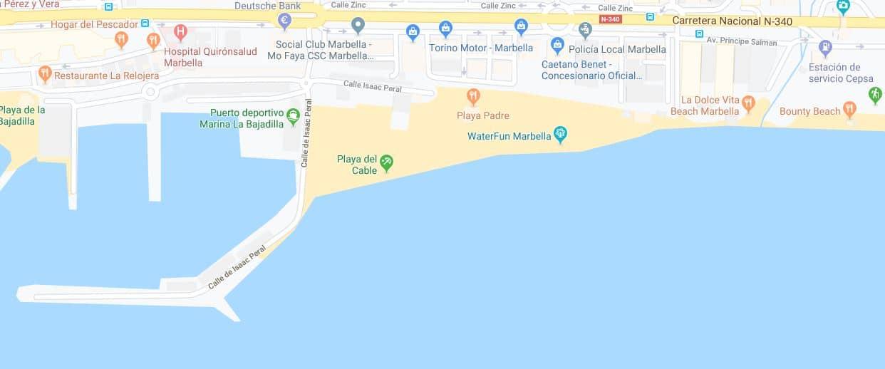 Localización Playa del cable