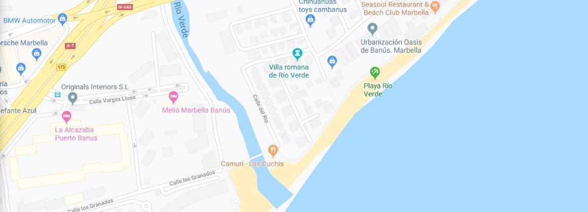 Localización Playa rio verde